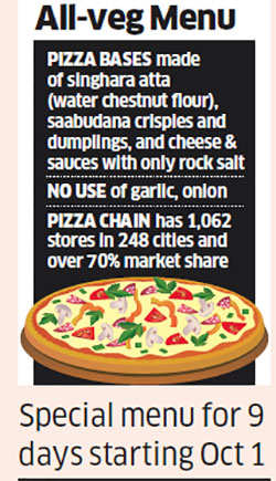 500 Domino's outlets to turn all-vegetarian during nine-day Navratri festive period