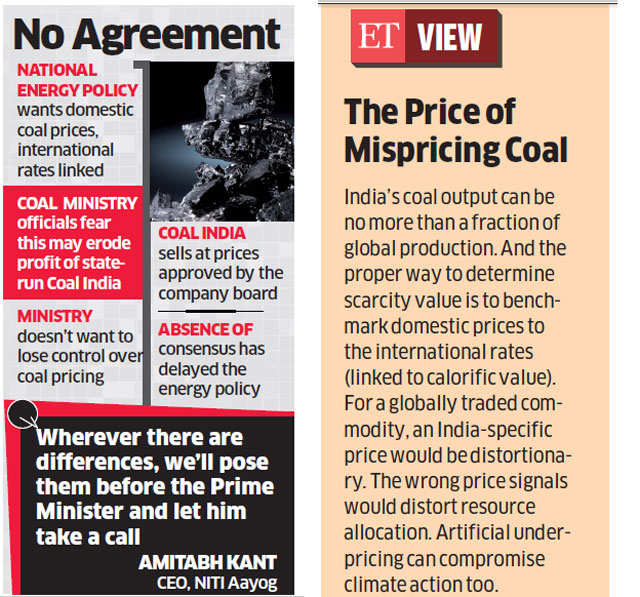 Coal Ministry opposes NITI Aayog's draft Energy Policy
