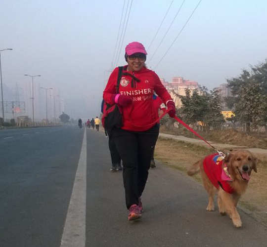 CEO on top of the world: Rama Vedashree aced the Great Wall of China marathon!
