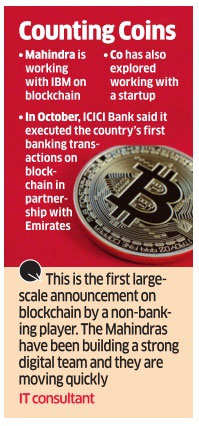 Mahindra drops the coin on blockchain to manage books