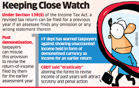 CBDT warns of penal action if I-T returns are 'drastically' changed