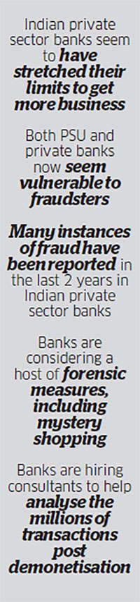 Demonetisation took the veil off the seemingly well organised world of Indian private banks
