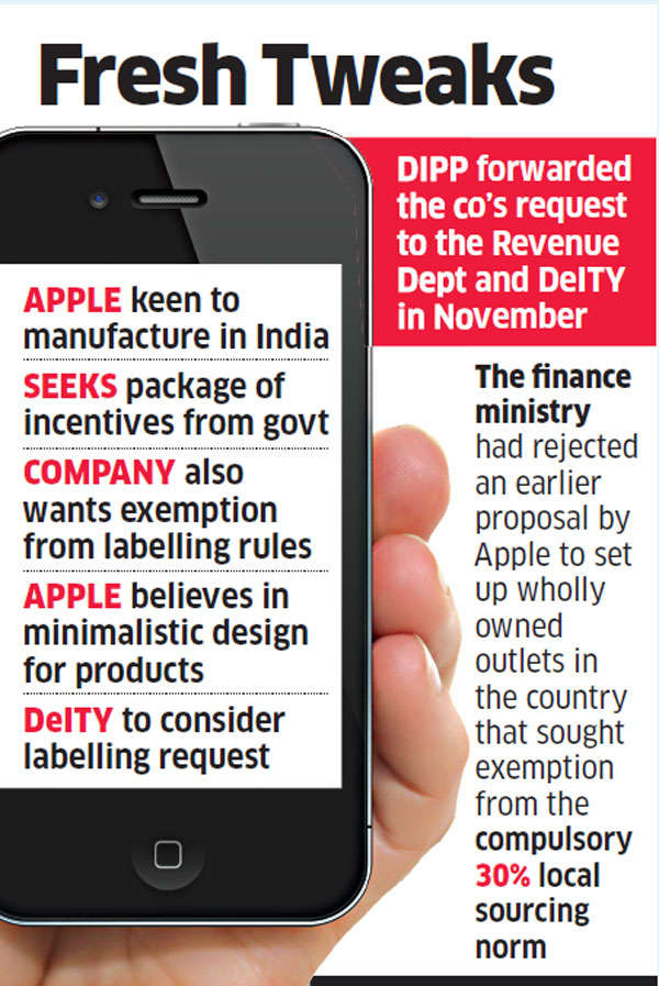 Apple seeks relaxed labelling rules, doesn't want to print product info on devices
