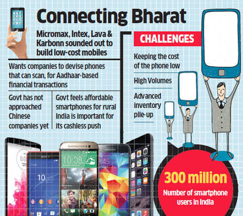Government asks local handset companies to make sub-Rs 2K smartphones