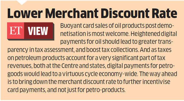 Digital transactions at petrol pumps rise to 30% after demonetisation