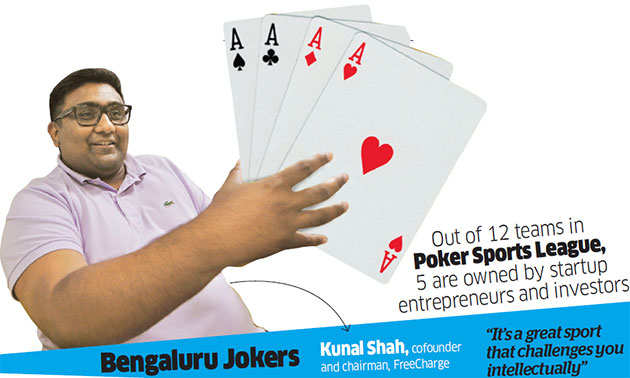 From PayU's Amrish Rau to FreeCharge's Kunal Shah, poker finds unlikely followers among entrepreneurs
