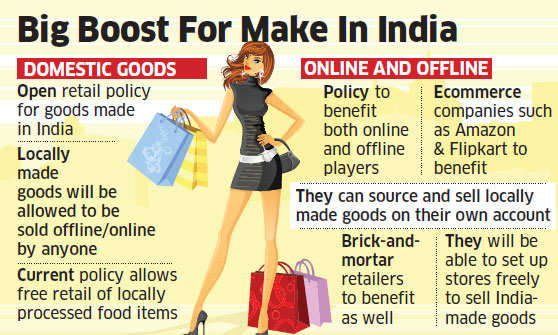 Government mulls proposal to free up retail FDI policy but only for India-made goods