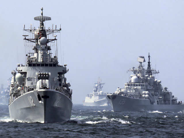 Chinese warships hold drill in Indian Ocean