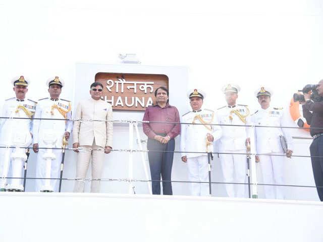 Off shore patrol vessel 'Shaunak' commissioned