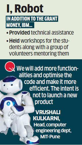 MIT Pune, IBM unveil robot 'Chintu'