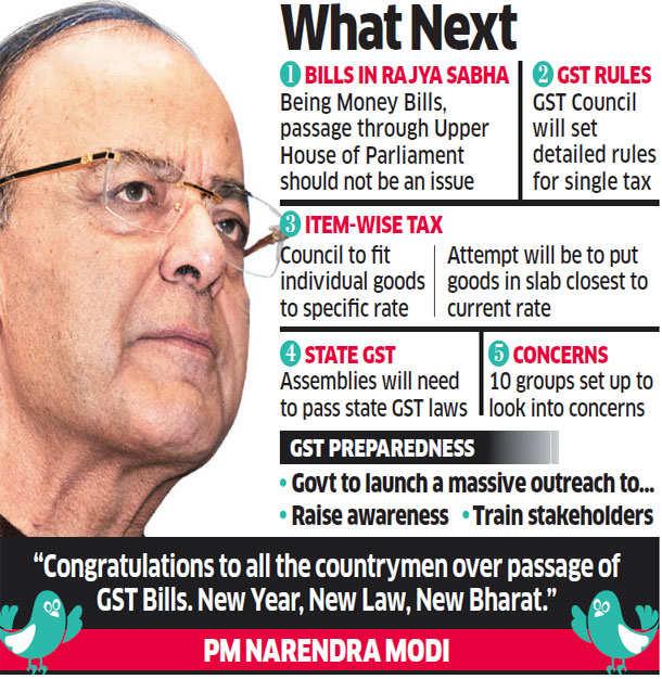 Lok Sabha assent in hand, Modi sarkar races ahead to roll out GST