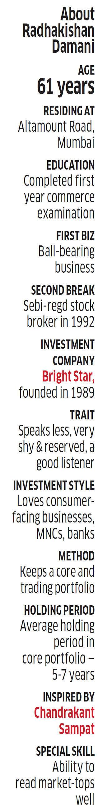 Radhakishan Damani: His journey from Dalal Street punter, to long-term investor, to entrepreneur