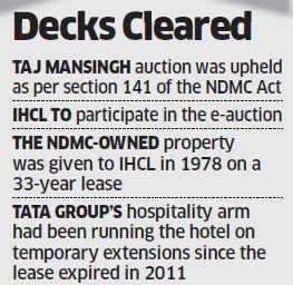 SC allows NDMC to e-auction Delhi's iconic Taj Mansingh hotel