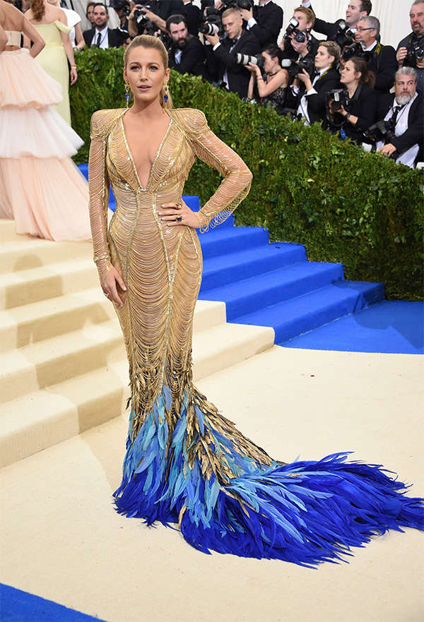 2017 fashion earrings - Met Gala 2017 Blake Lively Bedazzles The Red Carpet In