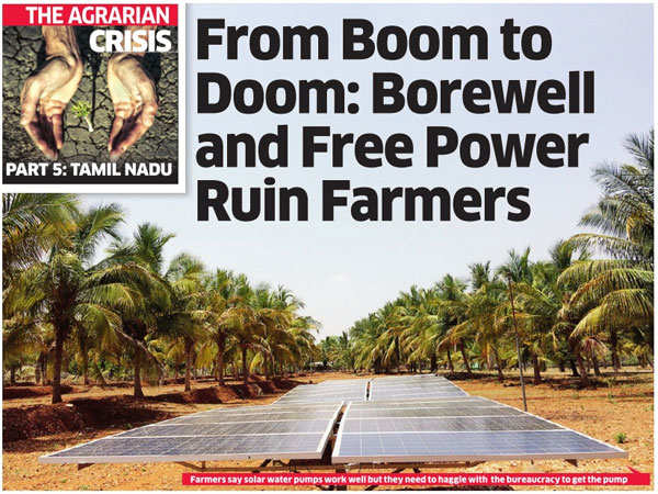 Agrarian crisis: Borewell and free power ruin Tamil Nadu farmers
