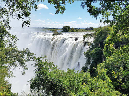 Zambia's Victoria Falls: Stretching over 1.7 km with blinding spray and rainbows