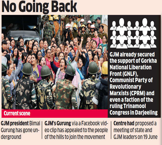 Darjeeling unrest: GJM protests carrying dead bodies of party supporters