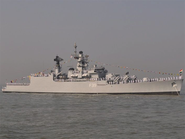 Navy warship undocked after 'minor' incident