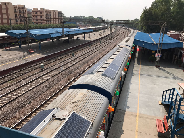 Indian Railways launches first solar-powered diesel electrical multiple unit train