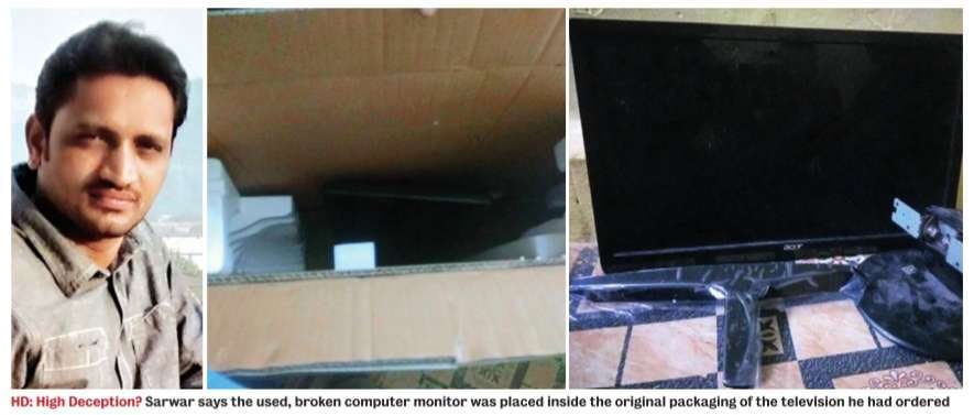 Faux box - Man orders 50-inch TV, gets 13-inch monitor