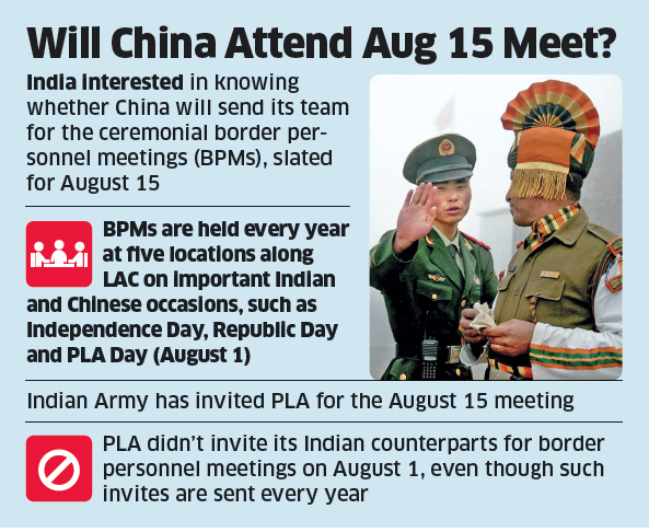Customary India-China border meet on I-Day unlikely
