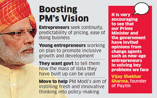 Modi meets start-ups to find answers to India's problems