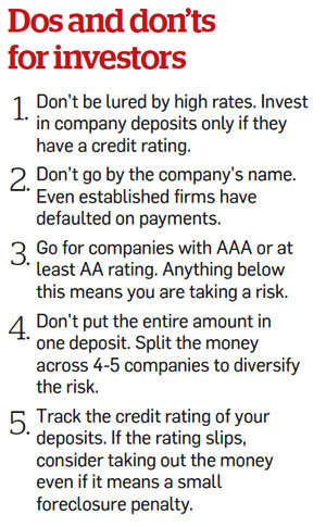How safe are corporate Fixed Deposits?How safe are corporate Fixed Deposits?