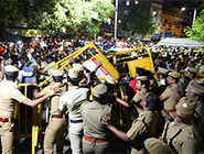 Chennai on edge as CM Jaya battles for life