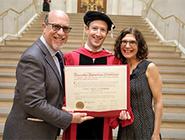 Zuckerberg returned to Harvard to get his degree
