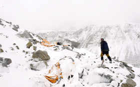 Avalanche flattens parts of Everest Base Camp