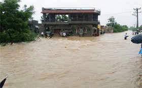 Latest pics: Flood-like situation in Rajasthan