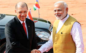 Seychelles' President on 3-day visit to India