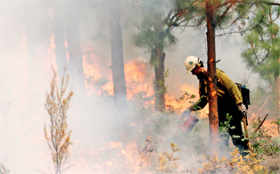 How firefighters are battling deadly blazes in US