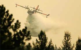Wildfire flares up near Washington's Omak