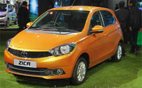 Tata Zica showcased at Auto Expo 2016