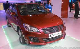 Accessorized Maruti Ciaz showcased at Auto Expo