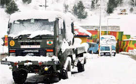 Magical scenes: Jammu under a blanket of snow