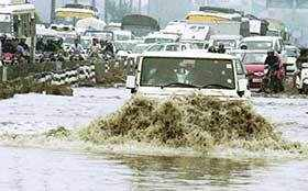 Better stay at home as deluge hits Gurgaon