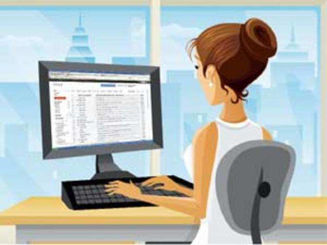 Email is preferred means of office communication with ...