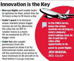 GoAir mulls late-night flights to attract budget fliers