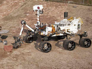 Three Generations of Rovers are pictured in the Mars Test Yard at NASA's Jet Propulsion Laboratory, Pasadena, California in this undated handout photograph. REUTERS