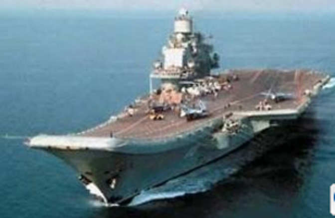 delivery of the russian aircraft carrier admiral gorshkov