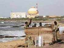 Police officers erect a bunker on a beach near Kudankulam nuclear power project, in the southern Indian state of Tamil Nadu. (Reuters)