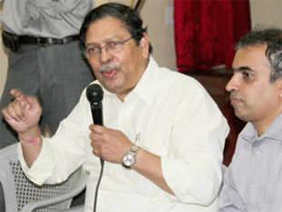 Former Lokayukta of Karnataka Santosh Hegde. (TOI)