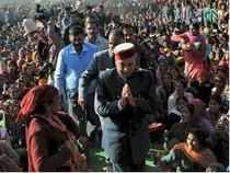 """The saffron brigade on its part is playing the """"aam aadmi"""" plank against Congress' royal challenge considering five out of six scions of erstwhile princely estates in the race for November 4 elections hail from Congress."""