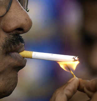 The study, released here by as part of the anti-tobacco campaign, found that 35.3 per cent of men and 7.6 per cent of women smoke in India, which finds classification as a low-income group country in the study.