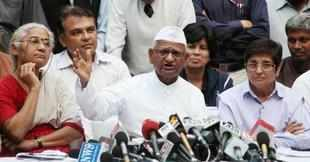 Hazare said he was announcing a plan of action to dispel the notion that he had gone into a shell and that there was no agenda to carry forward the movement against corruption.