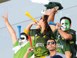 CHEERS! File photo of Pak fans during a cricket match in Mohali.