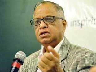 Infosys N R Narayana Murthy has been honoured with the James C Morgan Global Humanitarian Award, which recognises contribution of people using technology to change human lives.