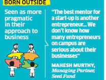 Firms incubated outside are seen as more pragmatic, not too focused on academic pursuits